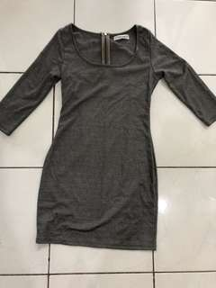 Kitschen grey bodycon dress