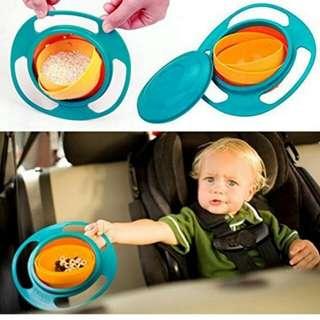 Brand New Non Spill Universal Gyro Rotating Bowl