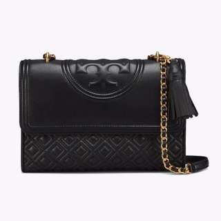 Tory Burch Fleming Convertible shoulder bag in black