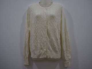 Uniqlo Cable Knit Cream Longsleeve Cardigan.