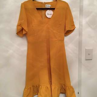Mustard mini sundress