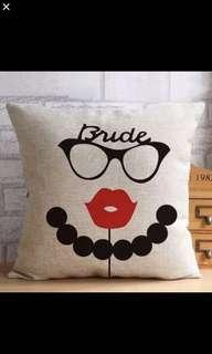 Groom & Bride Premium Cushion