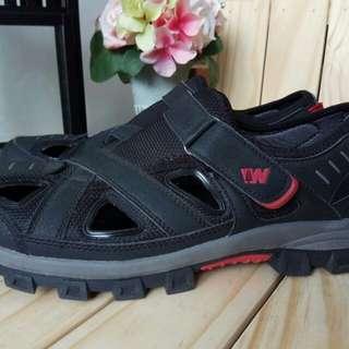 Preloved Sepatu Sandal WEINBRENNER Hitam Kulit Original