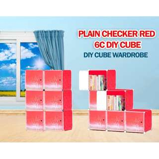 6 cube diy wardrobe / Book Rack