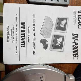 TEAC portable car DVD player