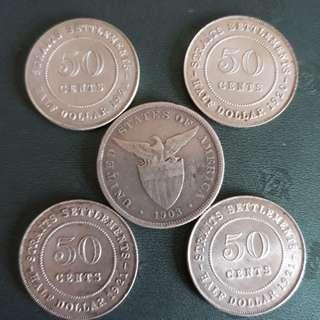 旧錢币5枚