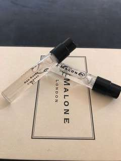 Jo Malone Sample x2 Red Roses