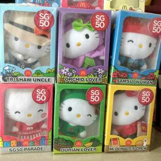 McDonald's SG50 Hello Kitty Figurines