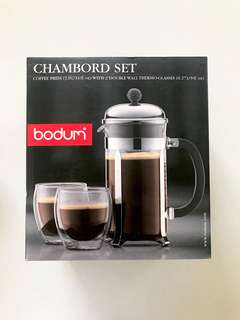 Bodum Starbucks Original French Press 1liter Set (plus 2 pcs - double insulated glass)