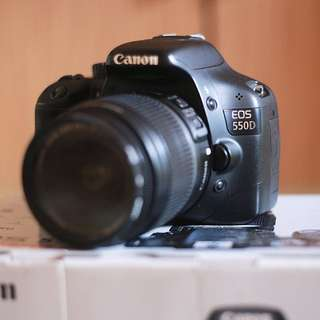 Canon 550D with Canon 18-55mm Kit Lens