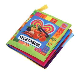 ❤ On-hand: 2 for 5.00 Soft Cloth Book (Vegetables)