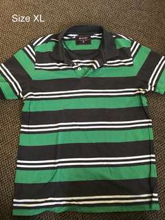 Navy/Green Polo