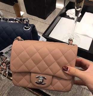 Chanel 方胖子 cf classic Flap 小mini
