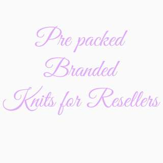 Prepacked branded knits for resellers
