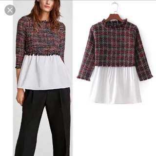 Looking fo authentic zara tweed top