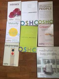 Osho- various titles