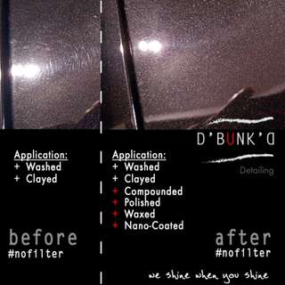 Car Detailing/Polishing/Paint Correction, choose from 3 D'Bunk'D Packages for Q2 2018
