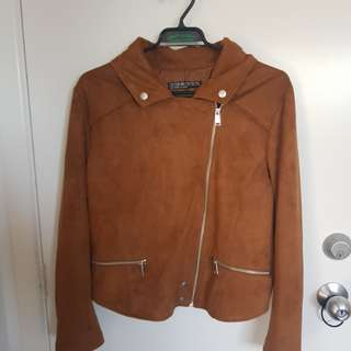 Brown Suede Jacket - Size 14 (Aus)