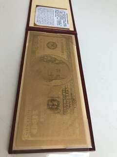 999 Gold USD Banknote Limited Edition