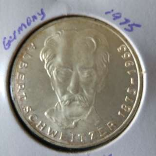 1975 Germany 5 mark silver