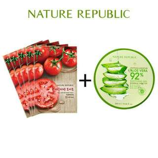 Nature Republic + 5 Sheet Mask