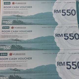 Damai laut beach resort kuantan (room voucher)