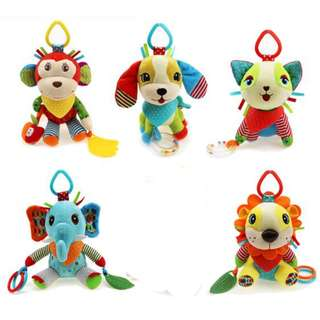 Like: 0 Share to  Animal Design Baby Rattle Toys Plush Stroller Car Seat Toys Crib Toys
