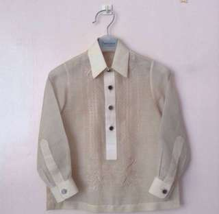barong onesimus size 2 for kids