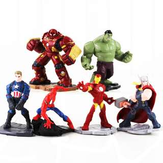 6Pcs Age of Ultron Hulk iron man captain america hulkbuster thor PVC Figure 10cm