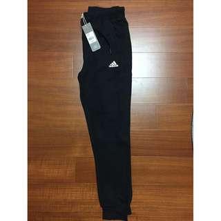Adidas愛迪達 女 黑 白 針織透氣棉褲 科技運動褲 上寬下窄 修身 slim 縮口褲 透氣 長褲 BR3848