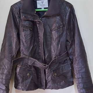 Guess leather jacket in excellent used condition