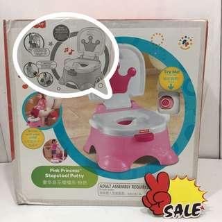 Fisher Price Pink Princess Stepstools Potty