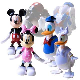 Deformation Egg Toys Set of 4 Mickey Minnie Donald Daisy