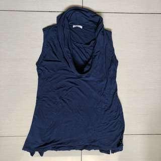 Elin navy blue nursing and maternity top