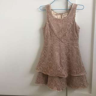 Nude mini dress