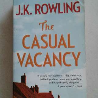 J.K. Rowling's Casual Vacancy