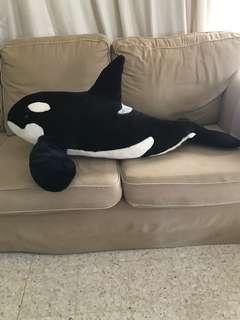 Pre-loved SeaWorld Shamu Orca Whale Plush Soft Toy
