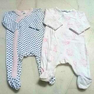 New Born (NB) Baby Sleepsuit Pink
