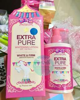 Extra pure gluta lotion new packaging!