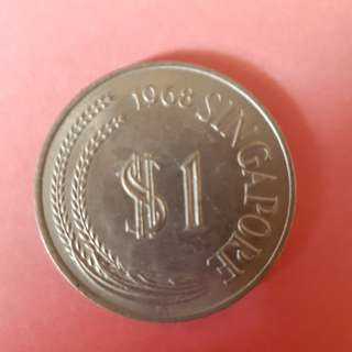 First Series 1968 $1 dollar coin x9
