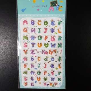 BN Alphabet Pop-up Stickers
