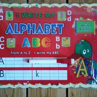 Dry-erase alphabet tracing book
