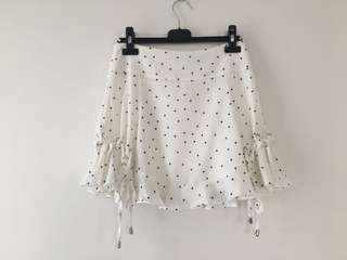 BNWT polka dot skirt