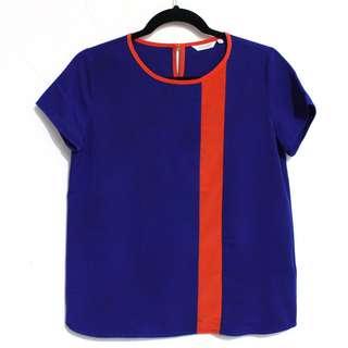 ACCENT Blue Orange Top
