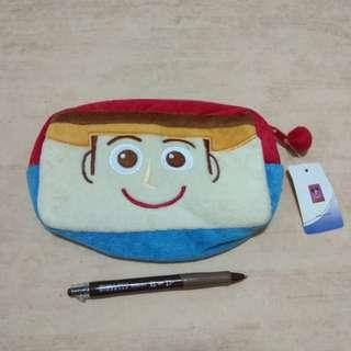 迪士尼 玩具總動員 胡迪 零錢包 玩偶 收納包 化粧包 鉛筆袋