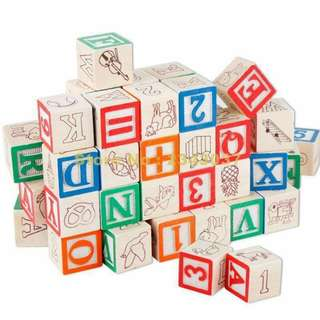 Letter and number blocks set - 30pcs
