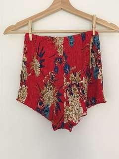 Floral festival shorts