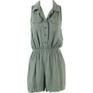 Bamboo Blonde Green Back Cut Out Jumpsuit