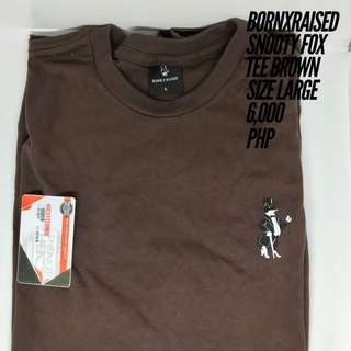 BORNXRAISED SNOOTY FOX TEE BROWN