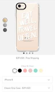 "[NEW] iPhone 8 - Casetify ""Eat Well, Travel Often."" Classic Grip Case"